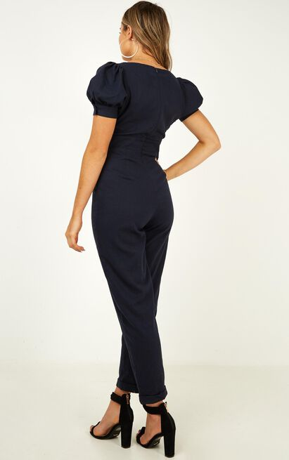 Move On Sweetheart Jumpsuit in navy - 20 (XXXXL), Navy, hi-res image number null
