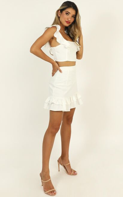 Make Me Stay two piece set in white - 20 (XXXXL), White, hi-res image number null