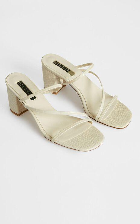 Billini - Yazmin Heels in Milk Croc