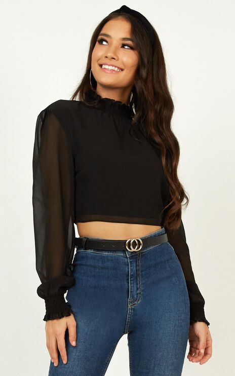 Tell Me The Truth Top In Black Floral