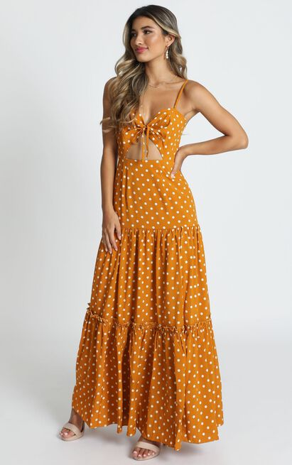 Spot Me If You Wish Dress in mustard spot - 20 (XXXXL), Mustard, hi-res image number null