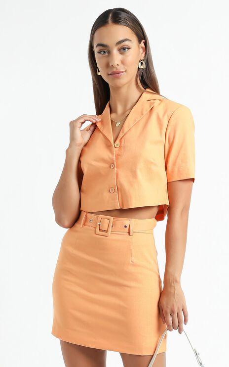 Elie Two Piece Set in Orange