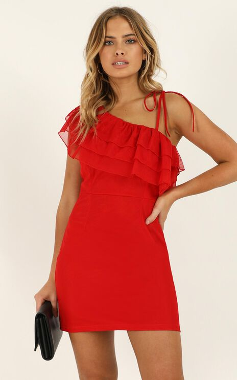 Trails Of The Past Dress In Red
