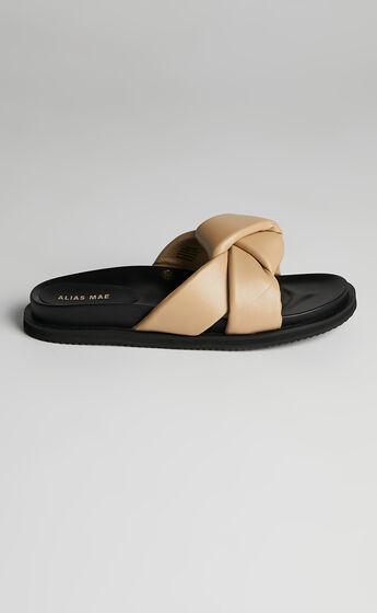 Alias Mae - Sofia Slides in Natural Leather