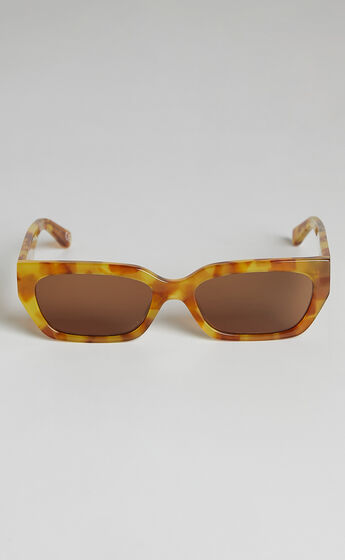 Luv Lou - The Gigi Sunglasses in Sepia Tort