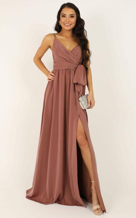 Revolve Around Me Dress In Dusty Rose