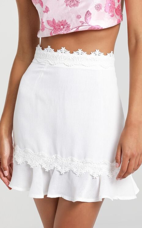 Milana Skirt in White