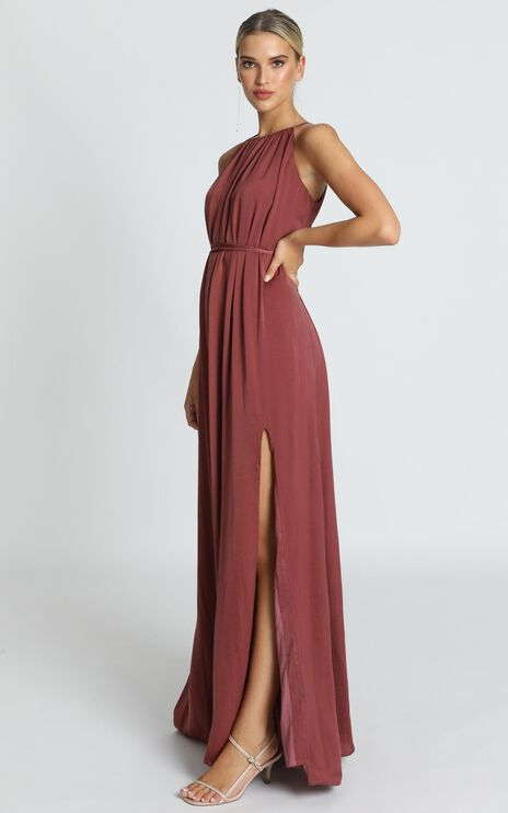 Graceful Dancer Dress In Dusty Rose