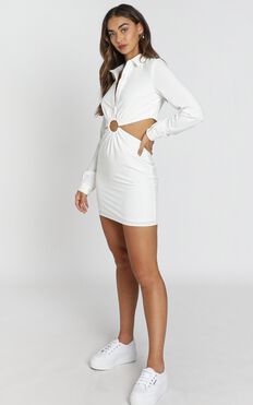 Ebenezer Dress in White