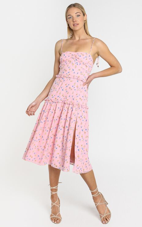 Didnt Know Dress in Pink Floral