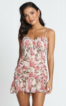 Florence Dress in Rose Floral