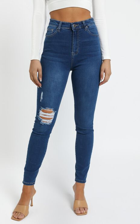Charlton Jean in Dark Blue Wash