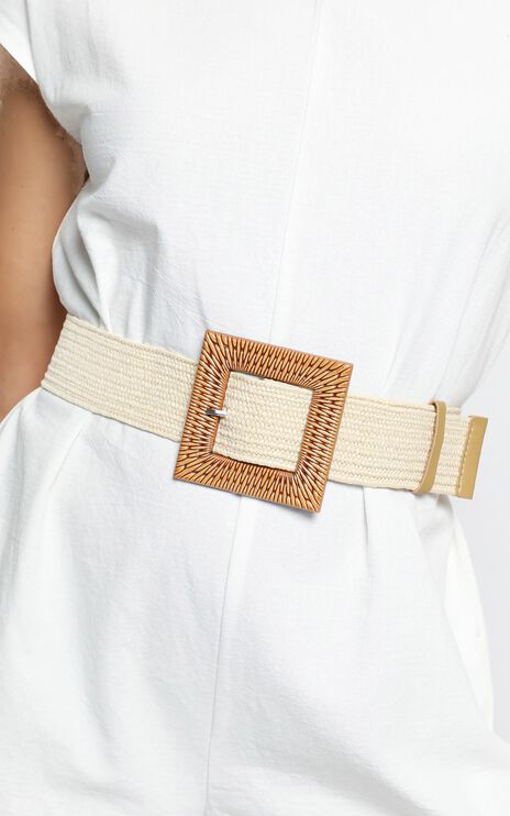 Summer Flowing Belt in White and Natural