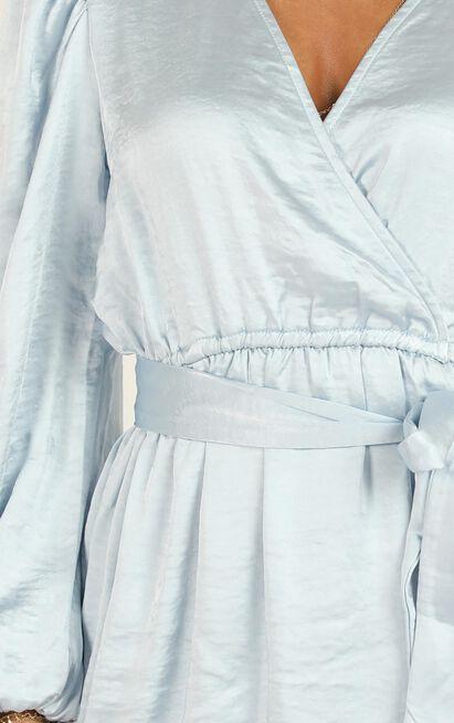 Misspoken Words dress in blue satin - 14 (XL), Blue, hi-res image number null