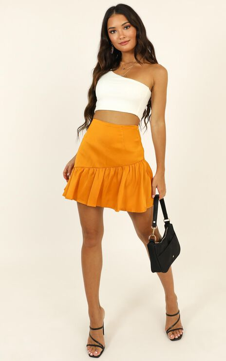 Here For A Good Time Mini Skirt In Mustard
