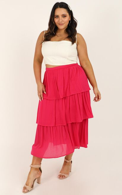 Time Keeps Passing skirt in berry - 20 (XXXXL), Pink, hi-res image number null