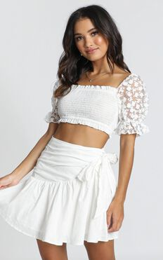 Day Dream Skirt In White