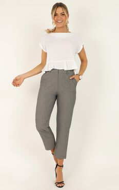 Keeping It Complicated Pants In Grey