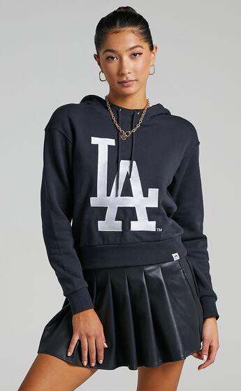 Majestic - LA Dodgers Hoodie in Faded Black