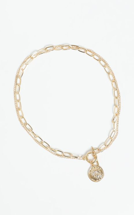 Gold Coin Necklace in Gold