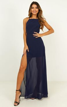 Night About You Dress In Navy