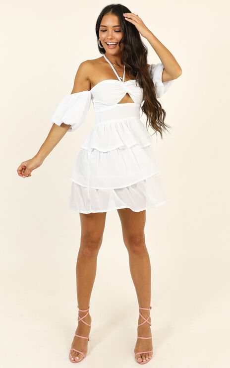 Call On Me Dress In White