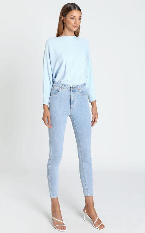 Erica Batwing Knit Jumper in Blue