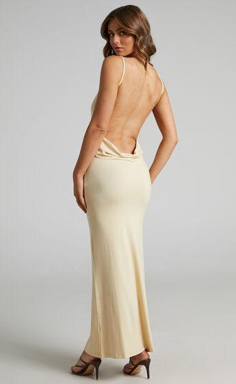 Danielle Bernstein - Evening Jersey Dress in Taupe
