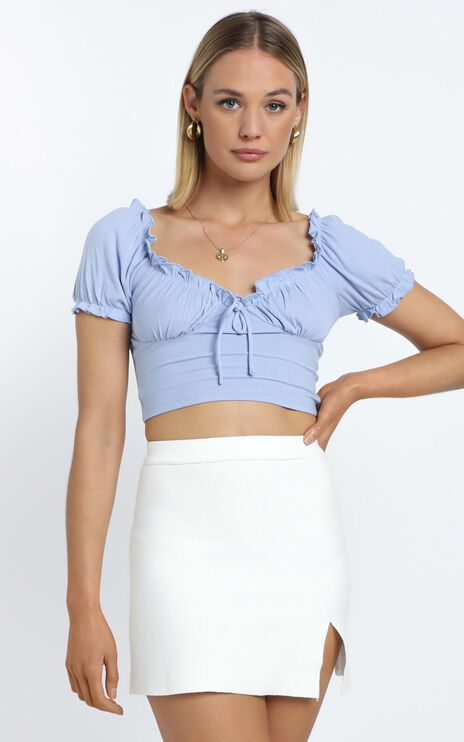 Parsons Top in Blue
