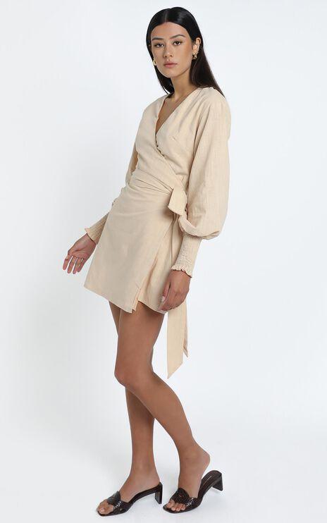 Lurice Dress in Beige Linen Look