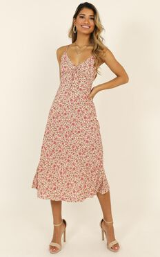 All That Glows Dress In Pink Floral