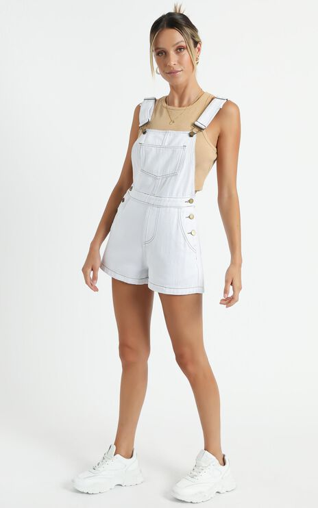 Mersin Overall in White Denim