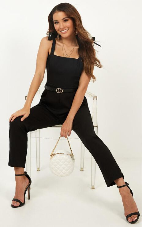 Caught Out Jumpsuit In Black