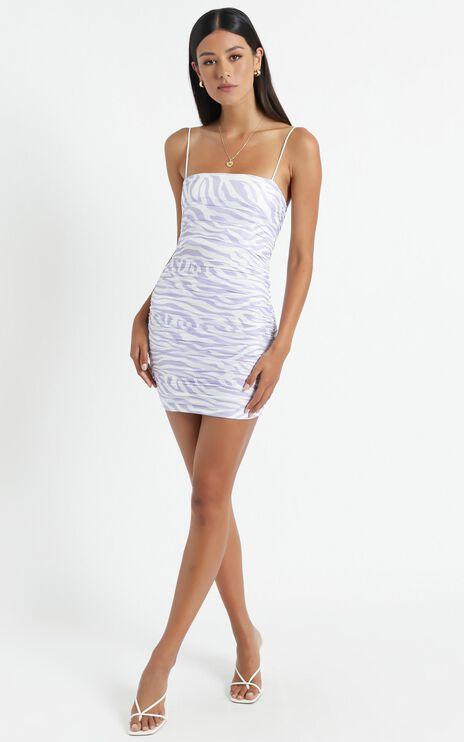 Lelo Dress in Purple Zebra Print