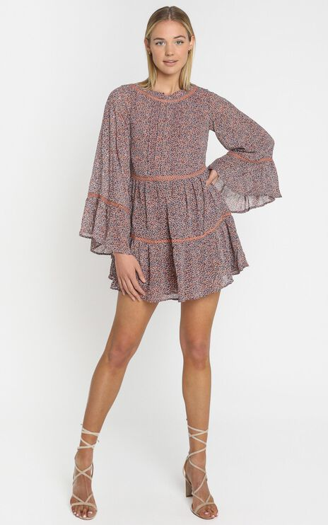Cassidy Dress in Purple Floral