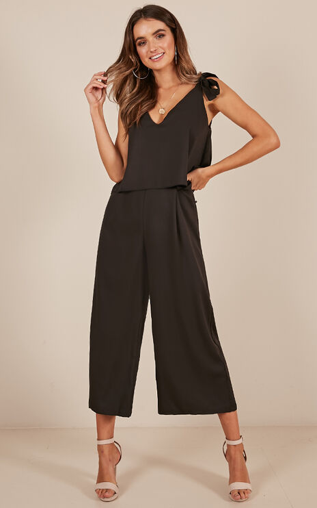 Out Of Reach Jumpsuit In Black