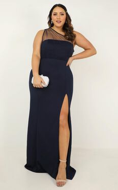 Proposing Love Dress In Navy
