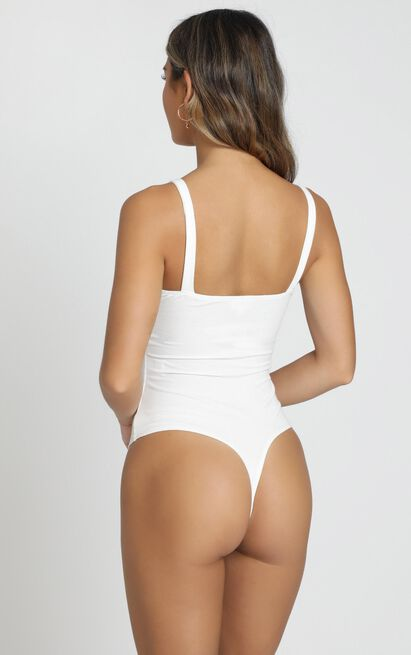 Fashion Stories Bodysuit in white, White, hi-res image number null
