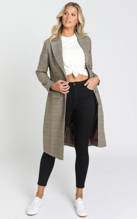 Blessed Jacket in Brown Check