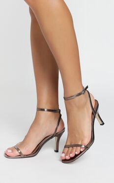 Therapy - Friskee Heels In Bronze Metallic