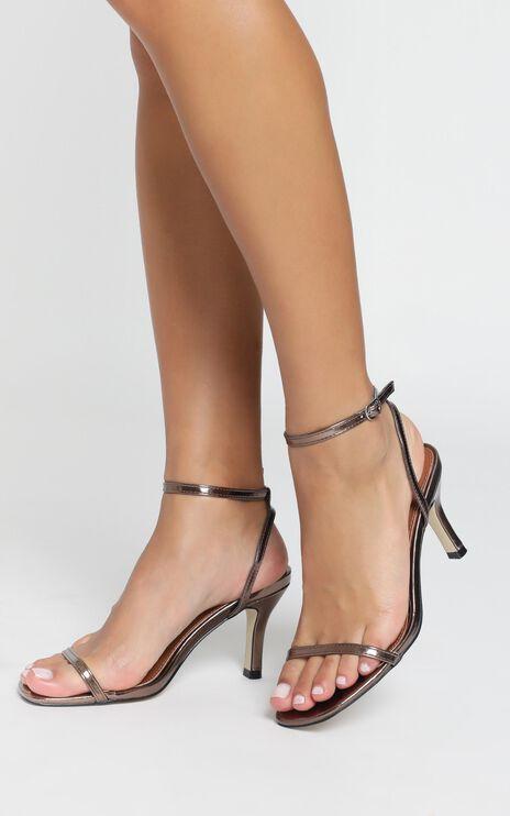 Therapy - Friskee Heels In Bronze Metallic