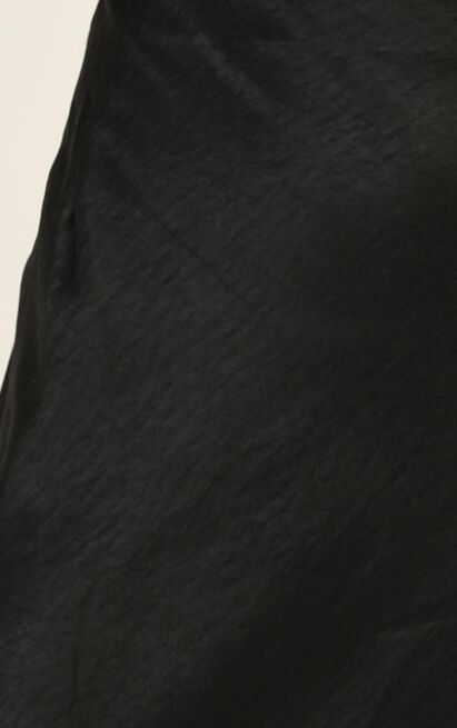 Lioness - Stop Fighting Skirt In Black Satin - 12 (L), Black, hi-res image number null