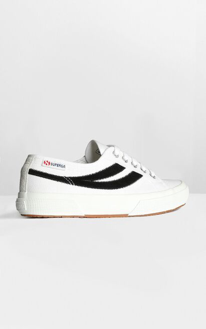 Superga - 2953 Swollowtail Cotusuede Sneaker in white and black - 5, White, hi-res image number null