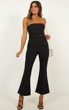 Boogie Nights Jumpsuit In Black