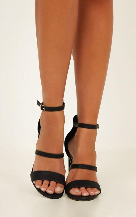 Verali - Bubba Heels In Black Smooth