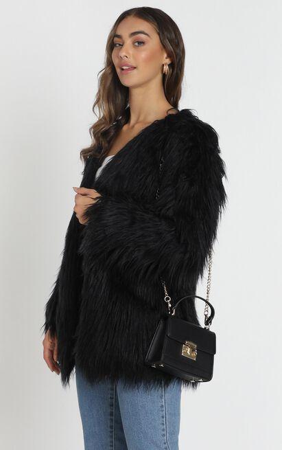 Faux Real coat in black - 18 (XXXL), Black, hi-res image number null