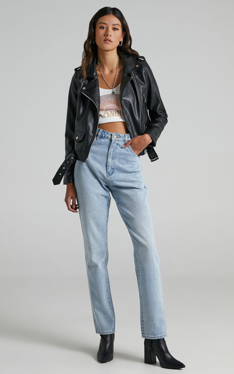 Hallie Jacket in Black Leatherette