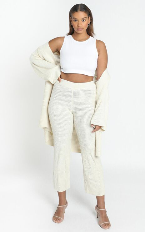 Jeston Knit Pants in Cream