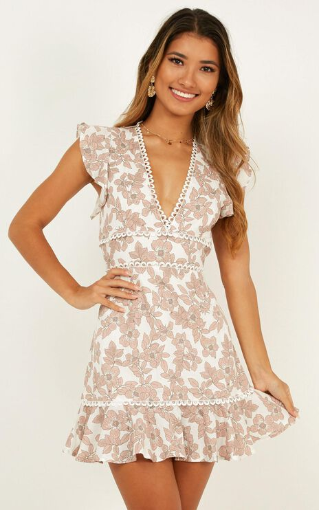 Down Time Dress In Blush Floral