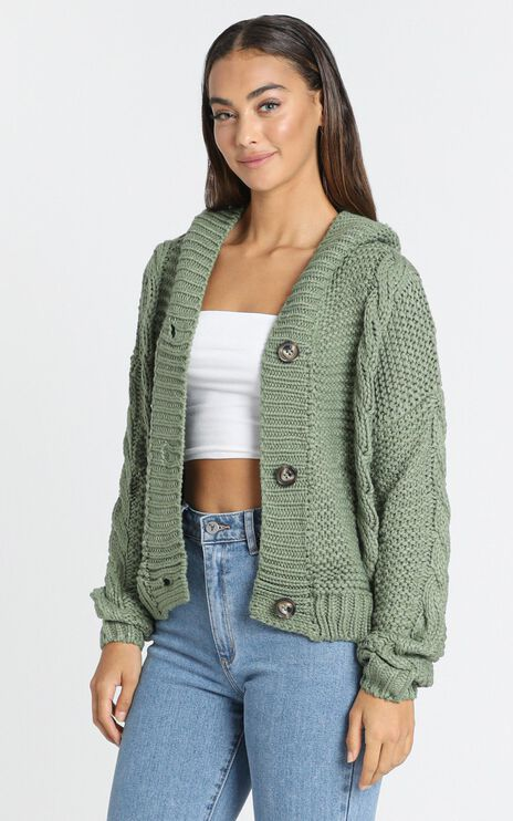 Allie Cardigan in Olive